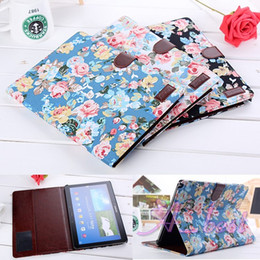 Wholesale galaxy tablet waterproof case - ePacket.For Galaxy Note 10.1 P600 Flower Cloth Leather Case Wallet Stand Book Flip Tablet Leather Wallet