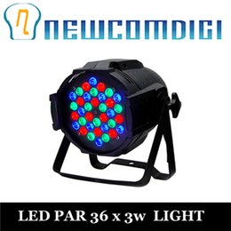 Wholesale Pc Par - Wholesale-Eyourlife 4 PCS DJ PAR 36x3w LED LIGHTS RGB PAR 64 108watt DMX STAGE PARTY SHOW