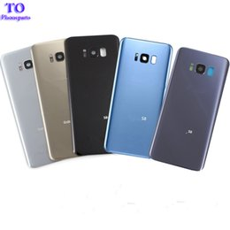 Wholesale Camera Oem - OEM Battery Cover Glass Housing Rear Back Door For Samsung Galaxy S8 S8 Plus With Camera Glass lens