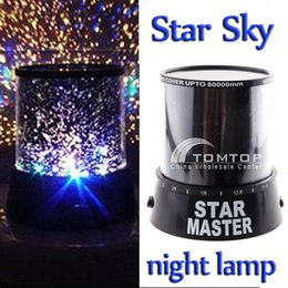 Wholesale Projector Baby - Baby Toys Amazing Flashing Colorful Sky Star Master Night Light Lovely Sky Starry Star Projector Novelty Gifts Free Shipping