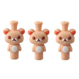 Wholesale Silica Tips - 510 Cute cartoon animal drip tips Bear style Silicone Drip Tips silica gel Mouthpieces for 510 ego ce4 rda rba dct mechanical mod vaporizer