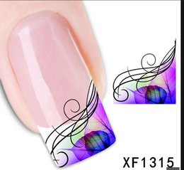 Wholesale Water Decal Sale - XFXF1315]Hot Sale 1 Sheet Watermark Sticker France Stickers For Nail Art, DIY Water Transfer Decal Nail Tools