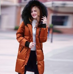 Wholesale Real Fur Trimmed Coats Women - 2018 New Winter Collection Women Down Coat Jacket Warm Woman Down Parka with a Real Raccoon Fur Winter Coat Women