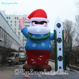 Wholesale Surf Decoration - Multi-size Surfing Inflatable Santa Claus for Outdoor Indoor Christmas Decoration