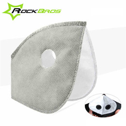 Wholesale Bicycle Mask Dust - ROCKBROS Filter For Masks MTB Bike Bicycle Cycle Anti-Dust Face Mask Replacement With Active Carbon Filter Good Protector