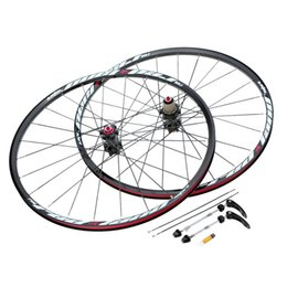 Wholesale Road Bike Wheelset Lightweight - New 26'' 24H Disc Brake Bike Wheel MTB Mountain Bicycle Bike Wheelset Hubs Rim Front Rear Set Lightweight Bicycle Wheel