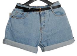 Wholesale Girls High Waisted Denim Shorts - Wholesale-Hot Women Retro Girl High Waisted Oversize Crimping Boyfriend Jeans Shorts Casual All-match Denim Shorts Plus Size Shorts