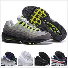 Wholesale Size 45 Boots - Best Drop Shipping Wholesale Running Shoes Men Air Cushion 95 OG Sneakers Boots Authentic 95s New Walking Discount Sports Shoes Size 40-45