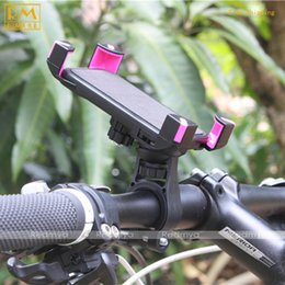 Wholesale Motor Universal Electric - Bicycle Mobile Phone Stand Rack Universal Electric Motor Mountain Bike Cycling Mobile Phone Holder Clamp Mount For iPhone 4 5 5S 5C 6 7 8