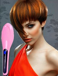 Wholesale Electric Magic Brush - Fast Hair Straightening Irons Comb With LCD Display Electric Straight Brush Anti-Scald Auto Massager Hair dressing Magic Styling Tools