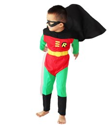 Wholesale Costumes Play Performance - Halloween costumes Children's boy robin model clothing Role-playing clothing Role-playing size:S - XXL