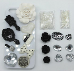 Wholesale Diy Bling Cell Phone - Fashion 3D Bling white lips DIY Cell Phone iPhone4,4s,5s,samsung s5 Case - Deco Den Kit