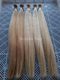 "Wholesale Hair Extensions Light Blond - 18""20""22""24"" #27 Honey Blond and #613 Bleach Blonde Straight Keratin Nail U Tips Hair Extensions INDIAN REMY 100g"
