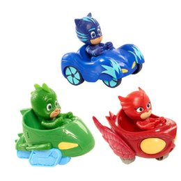 mask action Promo Codes - Pj Masked Cartoon Characters Catboy Owlette Gekko Cloak Toys Car Set PjMasksed Toy Action Figure Model