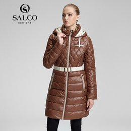 Wholesale Diamond Lattice Jacket - Wholesale-SALCO Sell like hot cakes in 2015 the new diamond lattice of cultivate one's morality even cap long down jacket