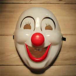 pelota alegre Rebajas 2015 Halloween Jester Jolly Cartoon Mask Fiesta festiva Suministros Venetian Mardi Gras Máscaras para Mascarada Bolas PVC cara completa Mens Payaso Máscara