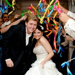 Canada Les faveurs de mariage européennes ruban coloré souhait baguettes avec cloche pour mariage événement fête décoration de fête acclamations fournitures Offre