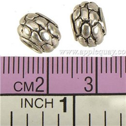 Wholesale Round Nuts - antique silver charms beads pandora bracelets european diy big hole necklaces snakeskin tool nut alloy jewelry components 300pcs free ship