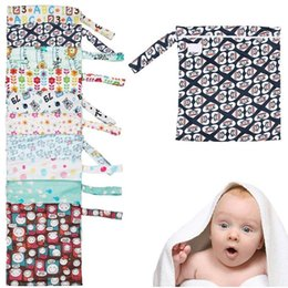 Wholesale Order Cloth Diapers - 1 pc Baby Nappy Wet Dry Cloth Zipper Waterproof Diaper Bag Tote Reusable Washable KS0189 order<$18no tracking