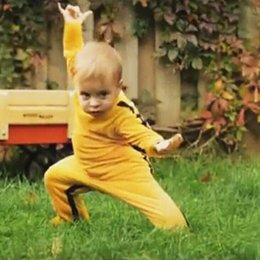 Wholesale Girls Sports Jumpsuits - Wholesale Bruce Lee Kung Fu Cotton Baby Rompers Clothes Boys Girls Outerwear Sleepsuit Newborn Toddler One-piece Jumpsuit Kid Sport Bodysuit
