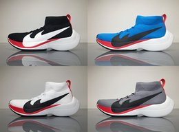 Wholesale Womens Size 12 M Shoes - Supply 2017 Air Zoom Vaporfly Elite Running Shoes Grey Black White Blue Marathon Runner Mens Womens Sports Shoes Sneakers Size US 7-12