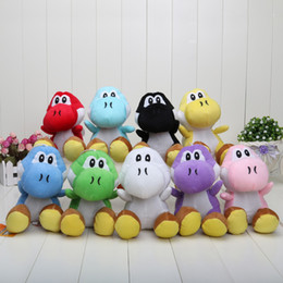 Argentina venta al por menor super Mario Bros Nuevo 7inch yoshi Plush Doll Figure Toy 9 color verde negro rojo amarillo yoshi toys on sale Suministro