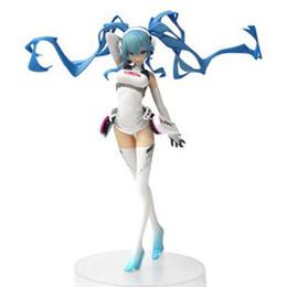 Wholesale Hatsune Miku Anime - Japanese Anime Doll Hatsune Miku Racing Ver. Racing Miku PVC Action Figure Model Toy 18cm