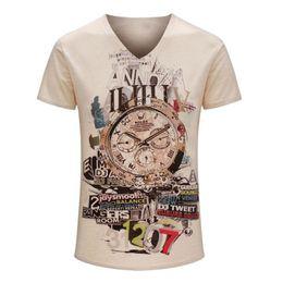 Maglietta estiva raisevern online-Raisevern moda uomo stampa tshirt 2015 estate tees t-shirt vintage manica corta magliette marca casual top camisetas mujer