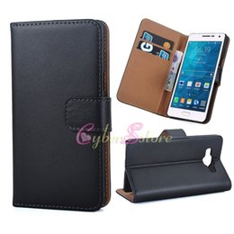 Wholesale Stand Holder Pouch Case - For 2016 Galaxy A5 A3 Real Genuine Flip Leather Wallet Credit Card Holder Stand Case Cover For Samsung Galaxy A510 A310