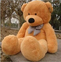Wholesale Huge Giant Teddy Bears - 2016 New Arriving Giant Right-angle measurements 200CM 78''inch TEDDY BEAR PLUSH HUGE SOFT TOY Plush Toys Valentine's Day gift 5 color brow