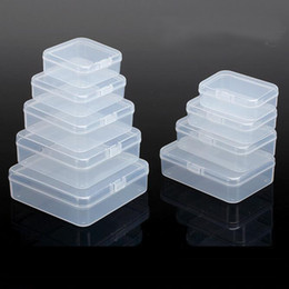Wholesale Small Boxes For Jewelry - Plastic Packing Boxes For Small Accessories Transparent PP Collection Jewelry Necklace Storage Container Case Packing Boxes - 0010Pack