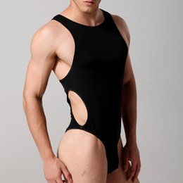 Wholesale mens novelty suits - Sexy Teddies Mens Bodysuit Body stocking Sex Man Jumpsuit Wresting Undershirts Clothes Gay Clothing Exotic Novelty comfortable underwear