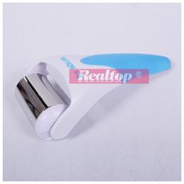 Wholesale Massager For Arms - REALTOP Ice Roller 1pcs ABS   Stainless Steel Skin Massager for Face Body Massager Skin Preventing Wrinkles Skin Cool Derma Roller