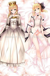 Wholesale Saber Case - Wholesale-Anime Dakimakura Fate Stay Night Saber Altria Hugging Body Pillow Cover Case