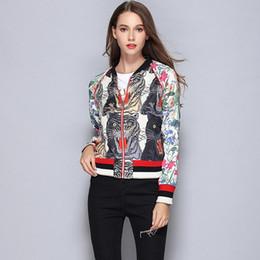Wholesale Girls Baseball Jackets - Milan Fashion Brand Name Womens Jackets Authentic Embroidery Print Coats Long Sleeve Baseball Uniform Girls Autumn Winter Outerwear QC330