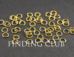 Wholesale Diy 5mm Gold Plated - 500 pcs 4mm 5mm 6mm Gold plated Open Jumprings Jump rings - split rings DIY supplies jewelry accessories