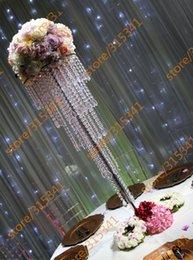 Canada Gros Livraison gratuite cristal mariage pièce maîtresse Perles acryliques Articles de fête cheap crystal wedding centerpiece wholesale Offre