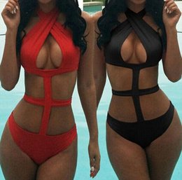 Wholesale String Bikini Sets - Sexy Criss-Cross Bandage Bikini Sets Fashion Push Up String Swimwear high waisted Swimsuit one pieces swimwear For Women swimsuits