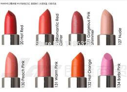 Wholesale Manshili Cosmetics - Wholesale-(3pcs lot) 12color optional Cute cat dazzle color lipstick Lip blam Long-lasting makeup cosmetics Brand MANSHILI Free Shipping