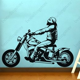 Wholesale Size Stickers For Motorcycles - Free Shipping New Wall stickers Home decor SIze:560mm*1180mm PVC Vinyl paster Removable Art Mural Motorcycle M-167