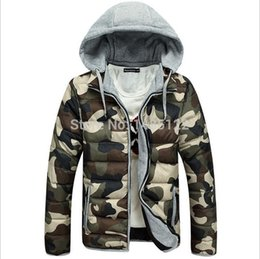 Wholesale Men S Military Overcoats - Fall- new fashion winter military parke men's warm jakets hooded overcoat snow cotton windproof jaket