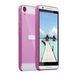 Wholesale Desire Gold - S5Q New Product Aluminum Metal Bumper Ultrathin Hard Back Cover Protector For HTC Desire 820 AAAFAV