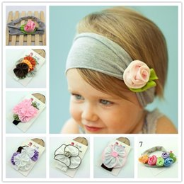Wholesale Hot Hoody Wholesale - Hot sale Top Baby crochet flower hair bow clips & headband barrette caps baby headdress hoody flower hair bow