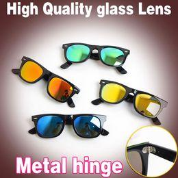 Discount sport glasses frames - Top quality Plank sunglasses women glass lens men sun glasses Color lens sport glasses Brand sunglasses unisex Glasses with box