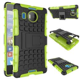 Wholesale pc microsoft - Hybrid KickStand Impact Rugged Heavy Duty TPU+PC Shock Proof Cover Case for Microsoft Nokia 640XL 950XL 650 50pcs lot