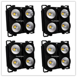 Wholesale Audience Lights - Wholesale- 4 pieces LED 4 eye stage audience lighting Cob Dmx Blinder 4x100w DMX stage blinder light
