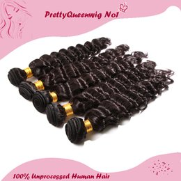 Wholesale Malaysian Deep Wave Same - Malaysian Hair #1 Natural Color Deep Wave Same Size Human Hair A Pack Of One Hair Wefts Hair Extensions Unprocessed Remy Virgin Hair 6A