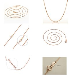"""Wholesale Gold Porcelain China Wholesale - New fashion High quality 18"""" Genuine 925 Sterling Silver Jewelry Chains Necklace Rose Gold Chains Necklace+ Clasps 925 Tag"""