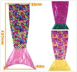 Wholesale Comfort Blankets - Fashion Scald Mermaid Blanket Fish ScalesDecorative Pattern Blankets A Mermaid Sleeping Bag Customizable Comfort Blanket 3 Colors CYF48