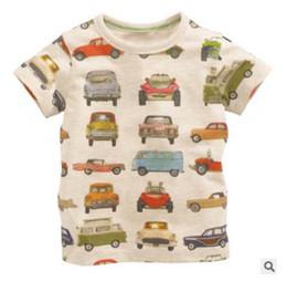Wholesale Car Light Round - 2016 Summer New Boy T-shirts Children Car Print Light Gray Cartoon Cotton Fashion Short Sleeve T-shirts 1-6T 50741